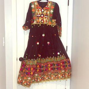 Dresses & Skirts - Vintage Afghan ethnic dress ensemble